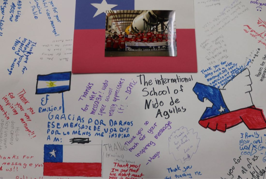 A Thank-you card from HASSE Central and South America Students to Dr. Diaz