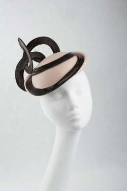 beige hat made from pure wool felt - The Hat Box