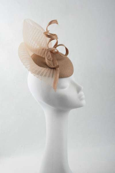 gold cocktail pillbox hat - The Hat Box