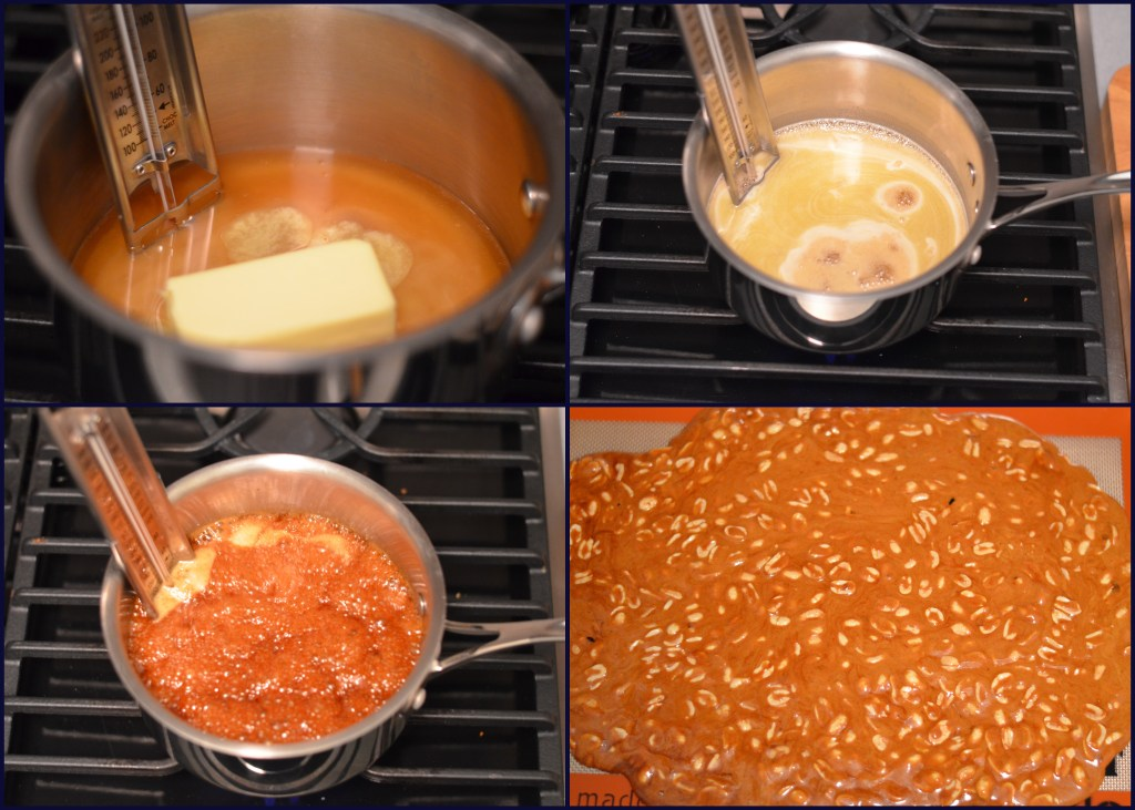 Making the Salted Honey Vanilla Peanut Brittle