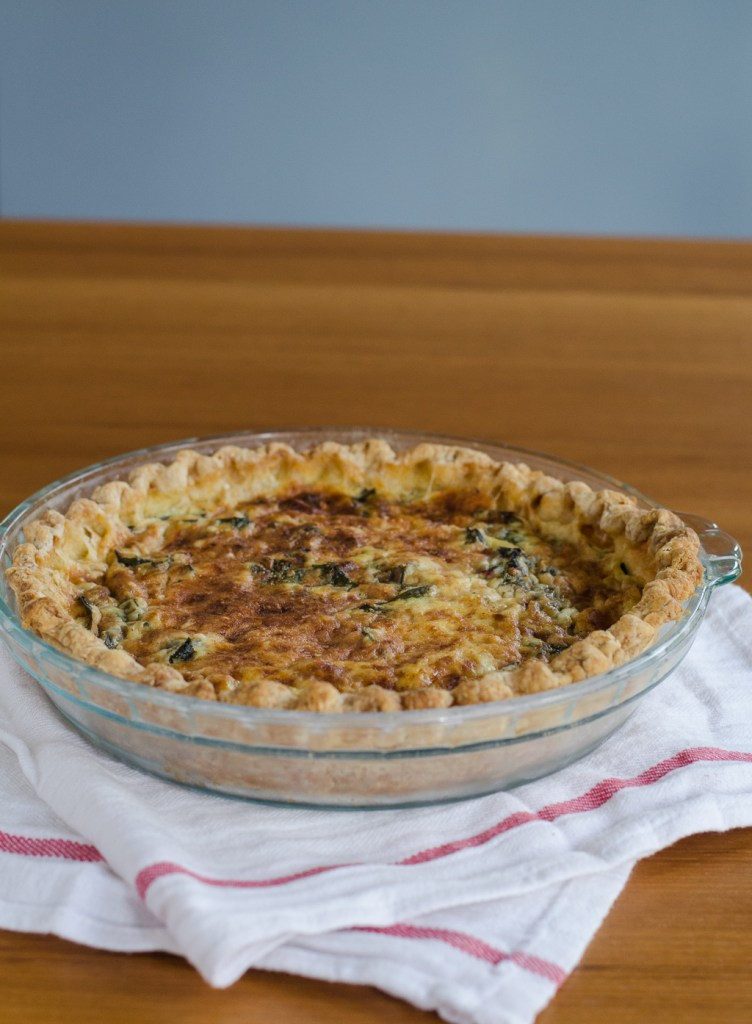 Beet Green and Parmesan Quiche