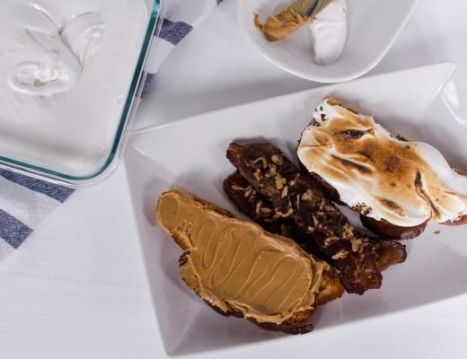 Fluffernutter with Homemade Marshmallow Fluff and Pecan Praline Bacon