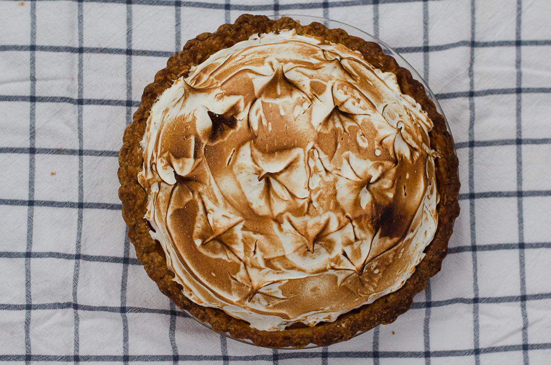 Chai Sweet Potato Pie with Vanilla-Cardamom Meringue