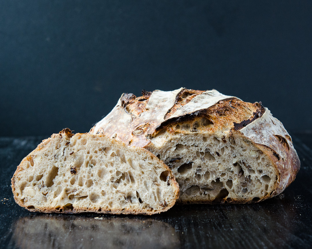 Wild Rice, Almond, Sage, and Thyme Sourdough