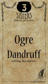 halloween labels orge dandruff