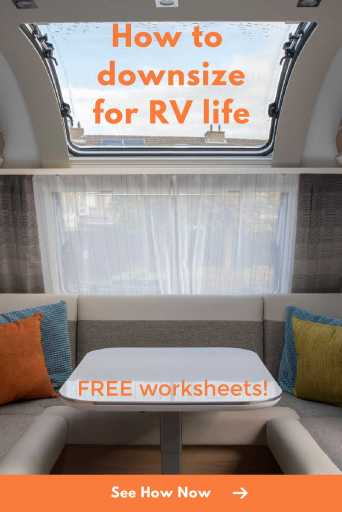 How to Downsize for Full-time RV Life
