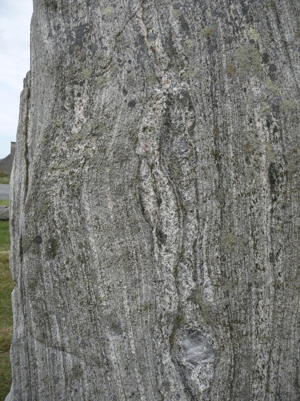 Detail of standing stone at Callanish