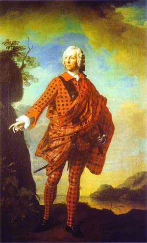 Norman MacLeod, 22nd Chief, by Allan Ramsay; also known as 'The Red Man' or 'the Swagger Portrait'