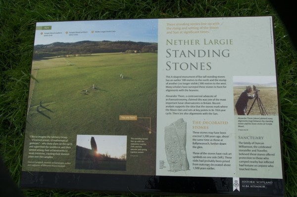 Information board, showing the layout of the site