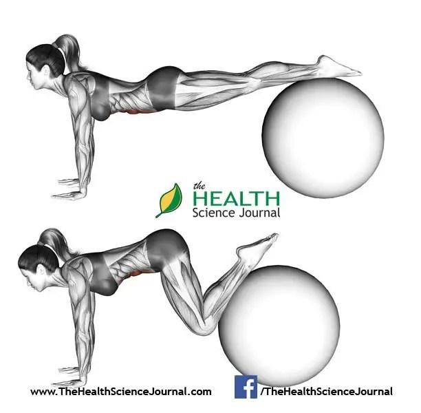© Sasham | Dreamstime.com - Fitball exercising. Ball pull-in. Female