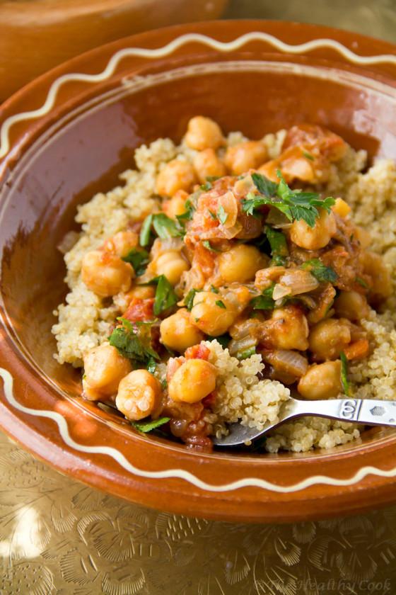 Moroccan-Chickpeas-with-Quinoa – Μαροκινά-Ρεβίθια-με-Κινόα