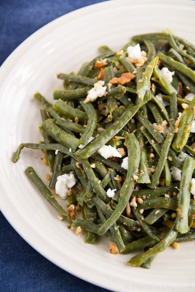 String Beans Salad with Walnuts and Goat Cheese – Σαλάτα με Αμπελοφάσουλα, Καρύδια και Κατσικίσιο Τυρί