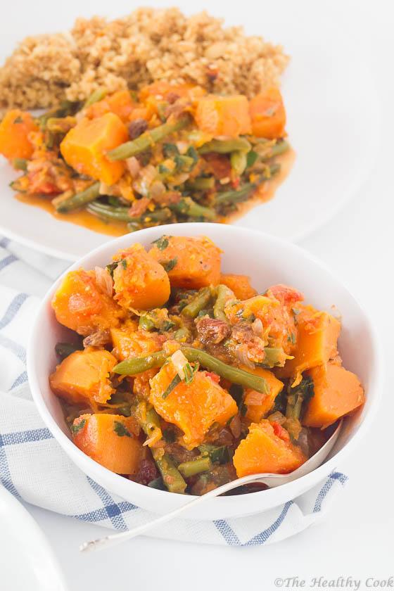 Spicy-Pumpkin-with-Almond-Quinoa – Πικάντικη-Κολοκύθα-με-Κινόα