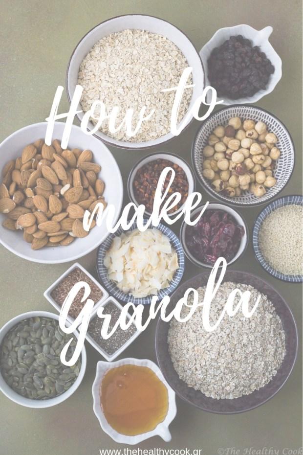 Αναλυτικό άρθρο με οδηγίες για το πως φτιάχνω granola με ότι έχω στο ντουλάπι μου - A detailed post on how to make granola with what you have in your pantry