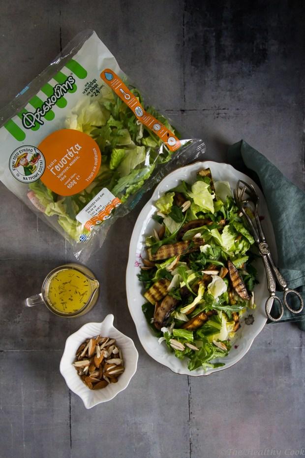Υγιεινή και χορταστική σαλάτα, που μπορεί άνετα να σταθεί ως κυρίως γεύμα - A healthy and filling salad, that can be enjoyed as a main course