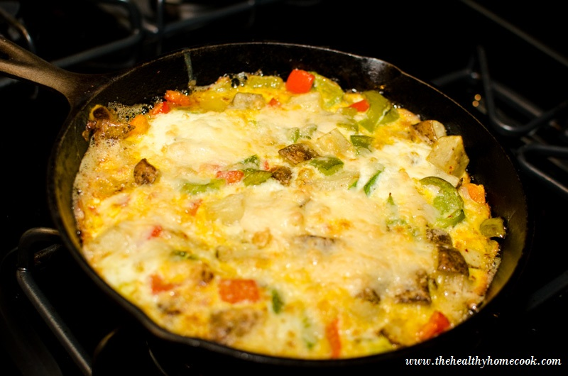 Potato and Pepper Fritatta: Its an all-in-one meal that includes eggs, potatoes, bell peppers and Parmesan cheese.