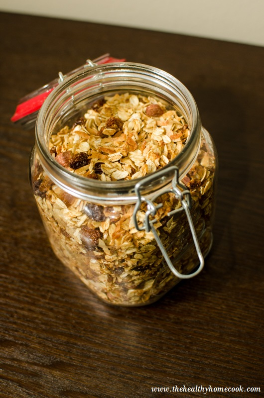 This Almond Coconut Granola is perfect to enjoy over greek-yogurt, fruit, or just to snack on at work.