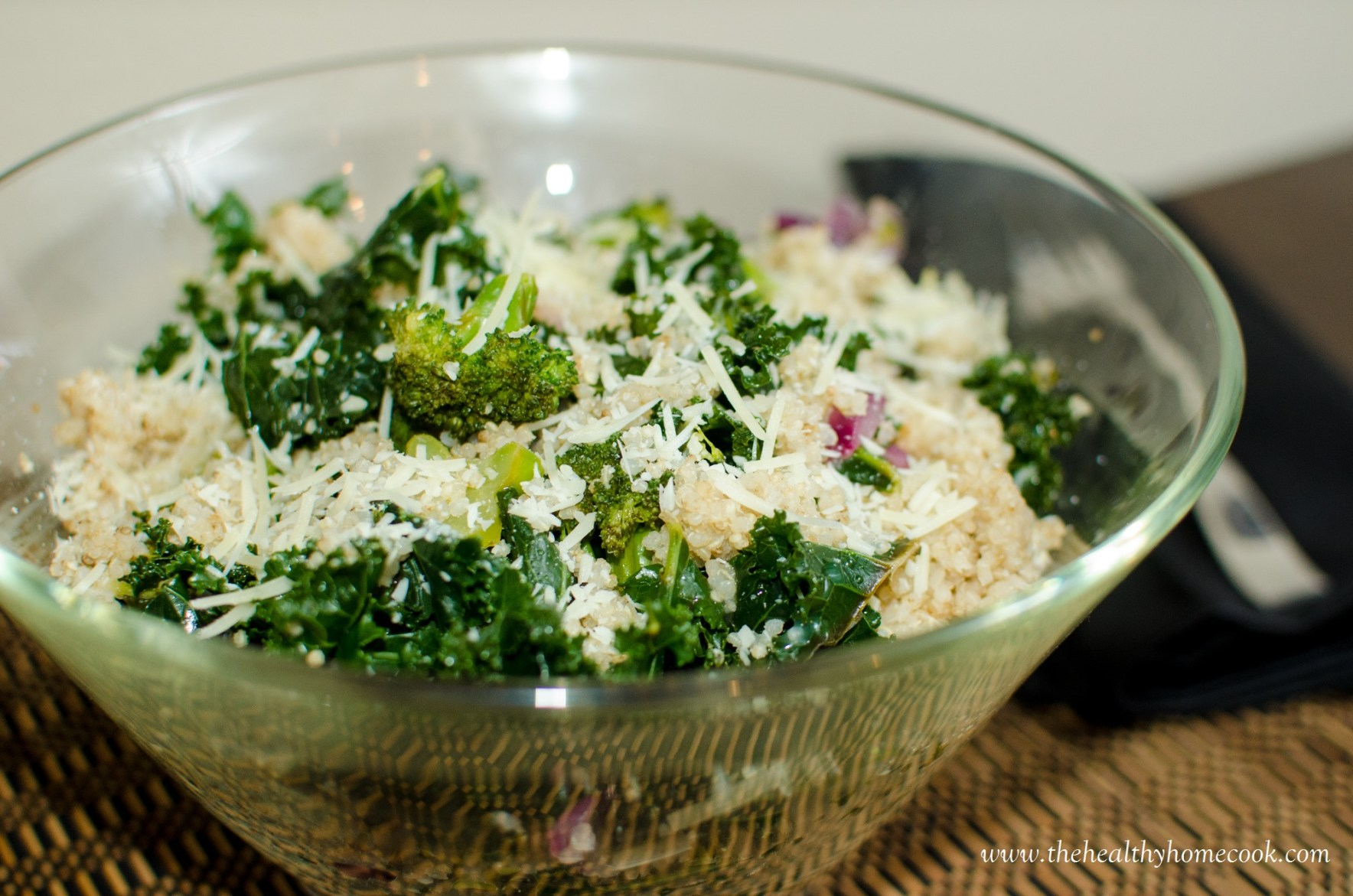 There are so many ways you can enjoy kale, from soups to smoothies and salads. But, one of my favorite ways to prepare kale is combining it with broccoli and quinoa to create a light, lemony salad.