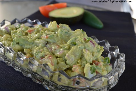 Guacamole is a much healthier option when it comes to serving dips at a party. It's easy to make and is packed with a ton of fresh ingredients, including tomatoes, onion, jalapenos and cilantro. Queso and sour cream & onion dip can't say that!