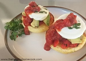 Roasted Red Pepper Eggs Benedict
