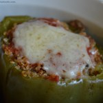 Quinoa & Turkey Stuffed Bell Peppers