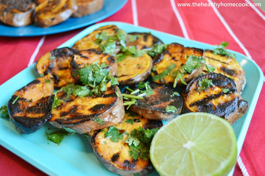 Grilled Sweet Potatoes Two Ways- crispy, tender perfection every time!
