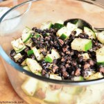 Roasted Rosemary Black Bean & Cucumber Salad