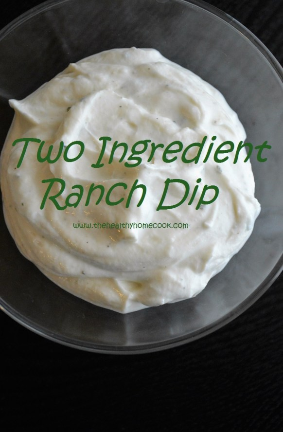 This Two Ingredient Ranch Dip is a cool, creamy snack that is low-calorie and sure to impress any crowd!