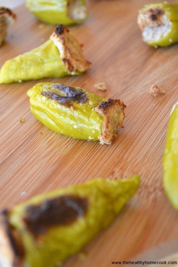 These Vegan Stuffed Pepperoncini Peppers are the best thing since sliced bread! Slightly tamer in heat, no greasy cheese or bacon, and baked to perfection.
