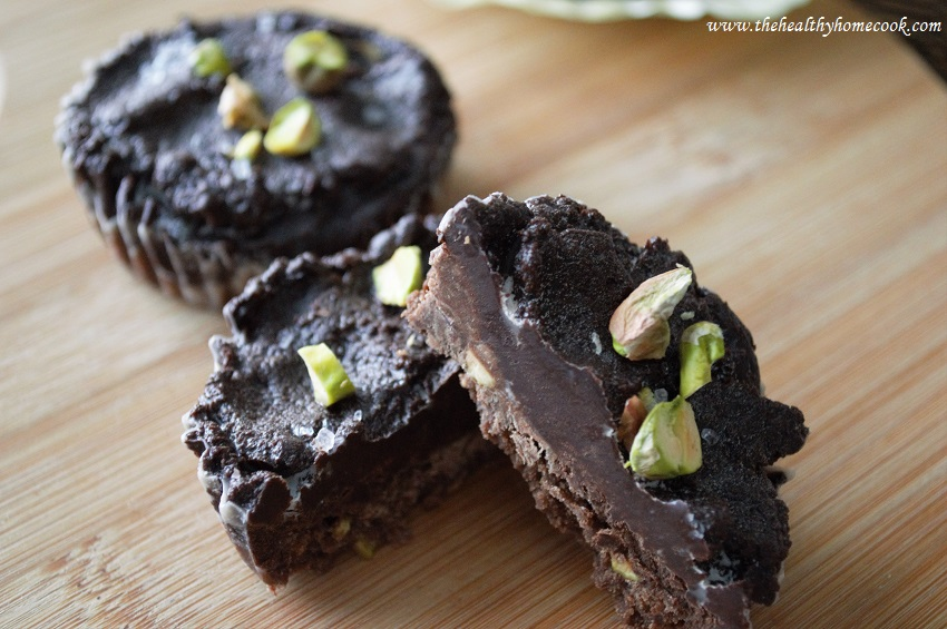 These Pistachio & Sea Salt Chocolate Tarts are great as gifts and perfect for any holiday