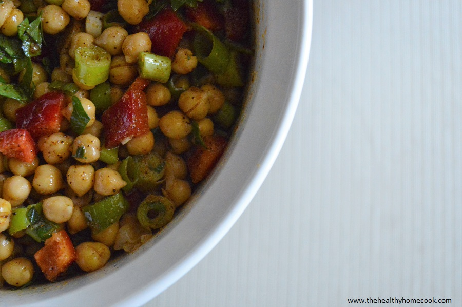 Whip up a batch of this Chick Pea Salad and treat your body to a healthy dinner that isn't heavy or regretful.