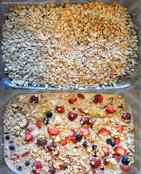 This Berry Baked Oatmeal is warm and fruity but not overwhelmingly sweet. It is the perfect recipe for breakfast or your next brunch gathering.