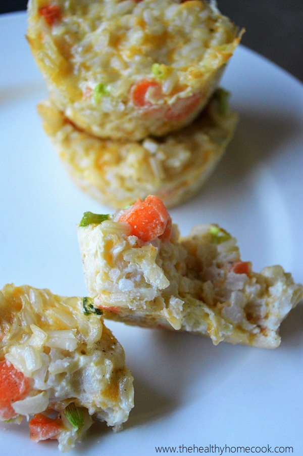 Cheesy Vegetable Rice Cakes- Use up your leftover rice in this easy, cheesy toddler meal!