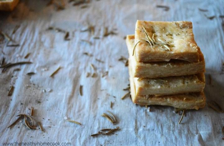 Rosemary Pie Crust Crackers