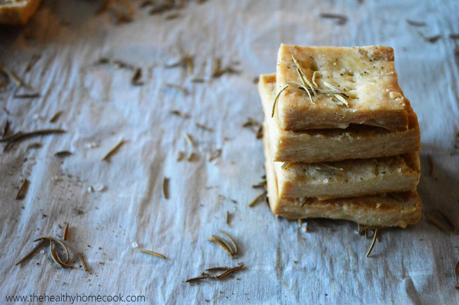 Swap out your usual crackers for these Rosemary Pie Crust Crackers. They are the perfect to dip with, top your soup with, or crumble over your salad.