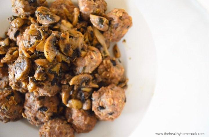 Turkey Marsala Meatballs