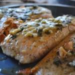 Basil Butter Glazed Salmon