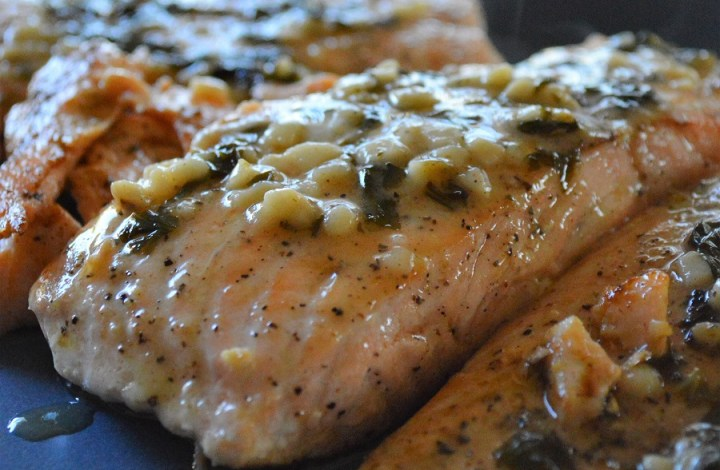 Basil Butter Glazed Salmon