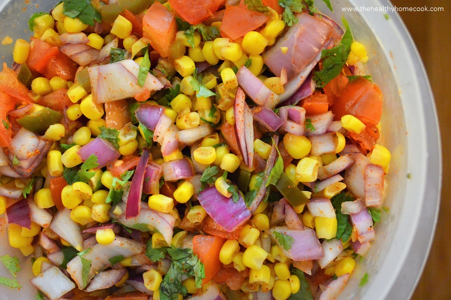 Fresh Corn Salsa from The Healthy Home Cook