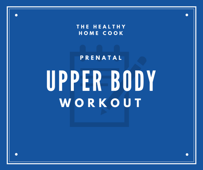 If you are an expecting mom and looking for a safe way to keep your arms toned, check out my Prenatal Upper Body Workout. It is a simple and effective plan to follow!