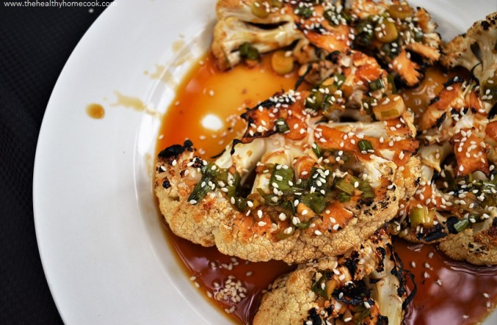 Grilled Teriyaki Cauliflower Steaks