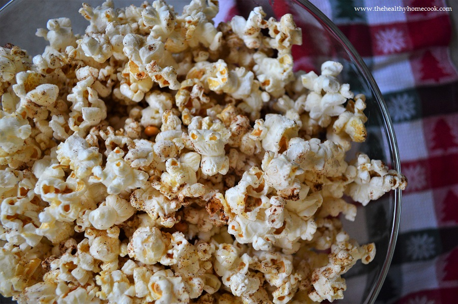 This homemade Skinny Maple Cinnamon Popcorn comes together in a few short minutes, but will disappear even faster!
