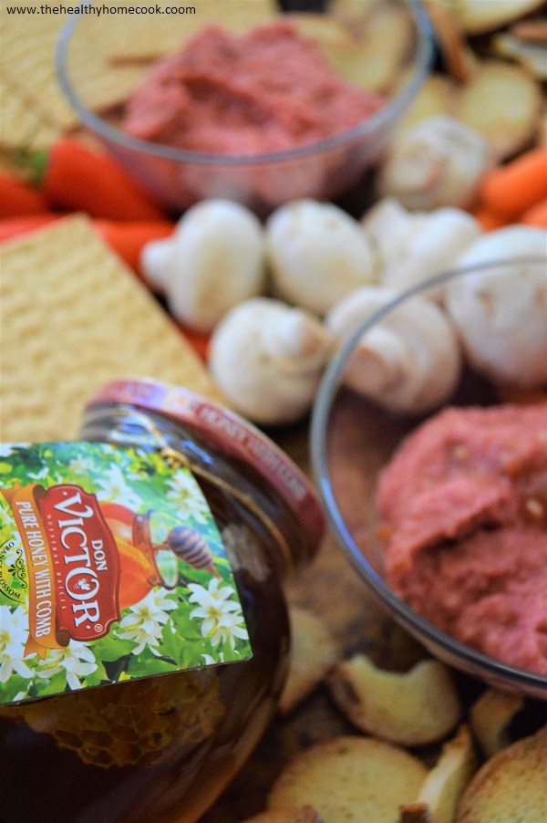 My Honey Beet Hummus is deliciously creamy, slightly sweet and perfect for dipping or spreading.