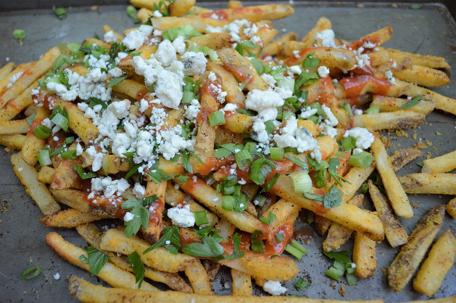Got a major craving for French Fries? Whip up a batch of these Oven-Baked Buffalo Fries. I promise you won't be sorry!