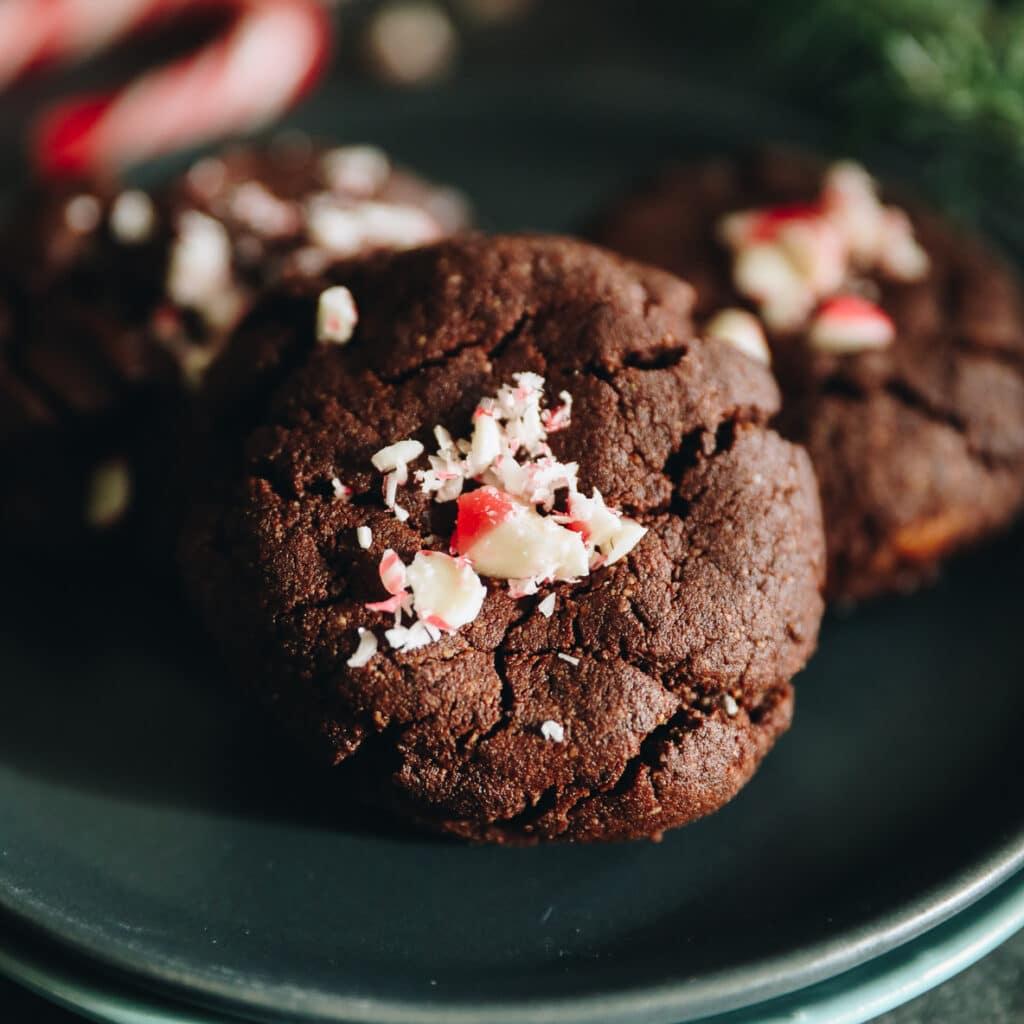 Peppermint Chocolate Cookies [Grain-Free]