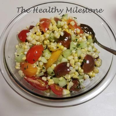 heairloom cheery tomato corn salad