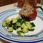 Instant Pot Meatloaf with Steamed Zuchinni