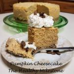 instant pot pumpkin cheesecake with spiced pepitas