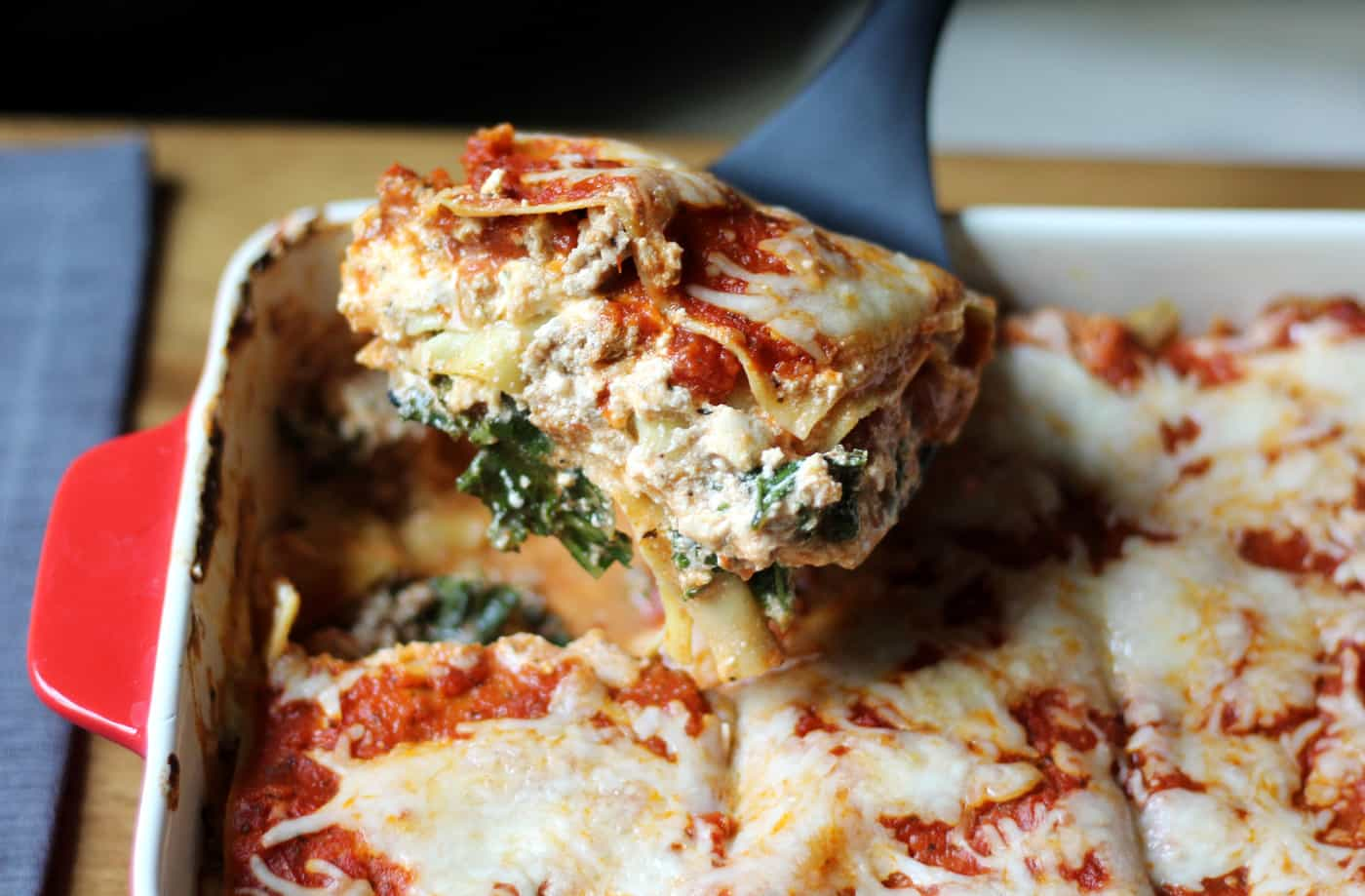 Cheesy Weekday Kale Lasagna