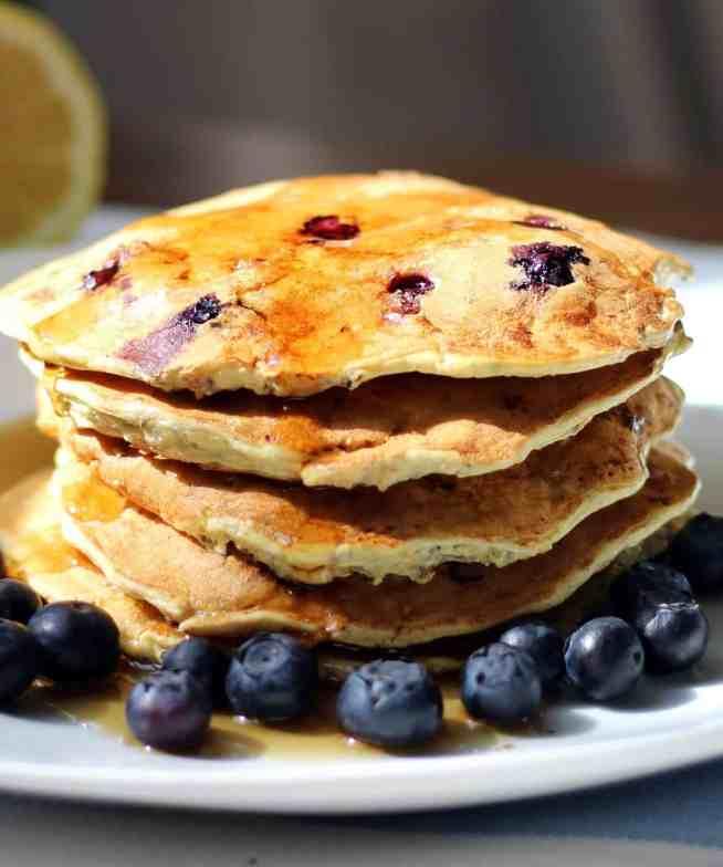 Ricotta Pancakes Closeup